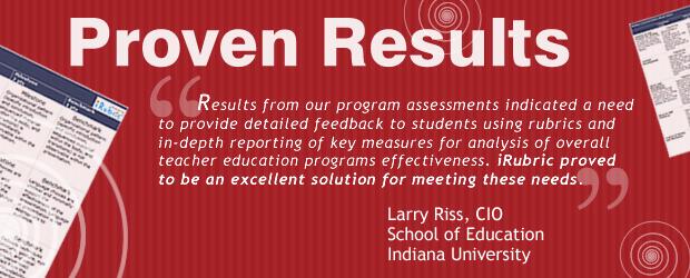 iRubric Testimonial Indiana University
